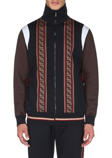 Fendi Men's Colorblock Zip-Front Track Jacket