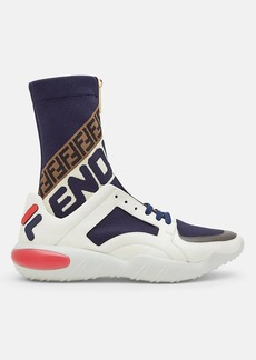 "Fendi Men's ""Fendi Mania"" Leather & Knit Sneakers"
