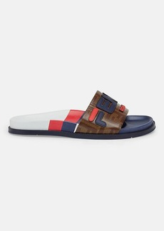 "Fendi Men's ""Fendi Mania"" Rubber Slide Sandals"