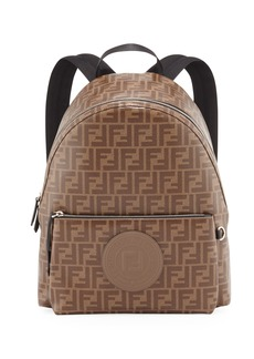 Fendi Men's FF Allover-Print Coated Canvas Backpack