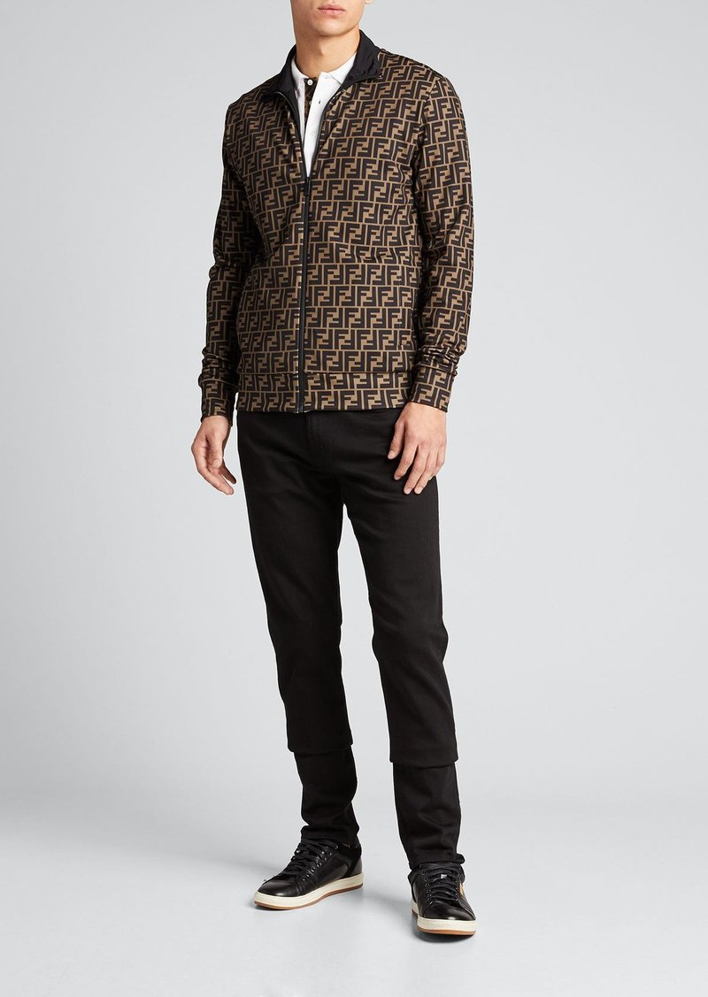Fendi Men's FF-Pattern Zip-Front Tech Jacket