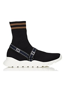 Fendi Men's Logo Harness-Strap Sock Sneakers