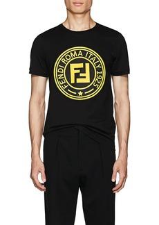Fendi Men's Logo-Print Cotton T-Shirt