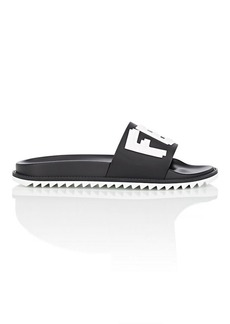 Fendi Men's Logo Slide Sandals