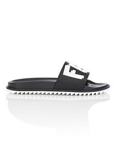 Fendi Men's Logo Slide Sandals