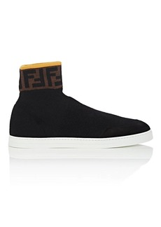 Fendi Men's Logo Wool Sock Sneakers