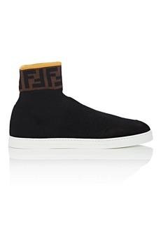 Fendi Men's Logo Wool Sock Sneakers