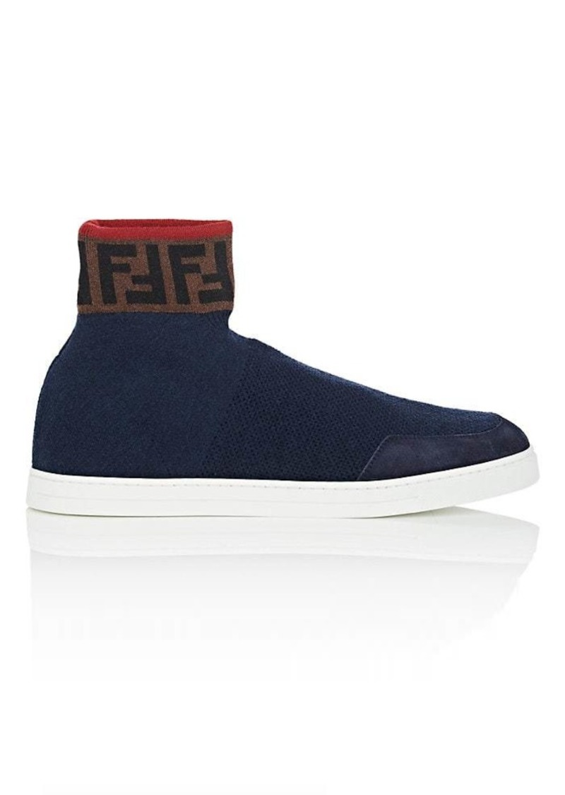 08a9fd1ea On Sale today! Fendi Fendi Men's Logo Wool Sock Sneakers