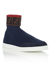 14c2990e6 Fendi Men's Logo Wool Sock Sneakers Fendi Men's Logo Wool Sock Sneakers
