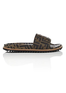 Fendi Men's Zucca-Print Slide Sandals