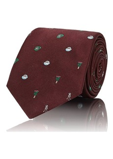 Fendi Men's Print Silk Necktie