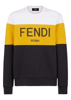 Fendi Men's Roma Colorblock Crewneck Sweatshirt