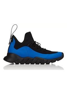 Fendi Men's Rubber-Strap Tech-Knit Sneakers