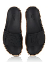 Fendi Men's Shawdow-Logo PVC Slide Sandals