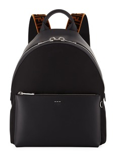 Fendi Men's Signature Zucca-Stripe Backpack