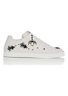 Fendi Men's Super Bugs Embroidered Leather Sneakers