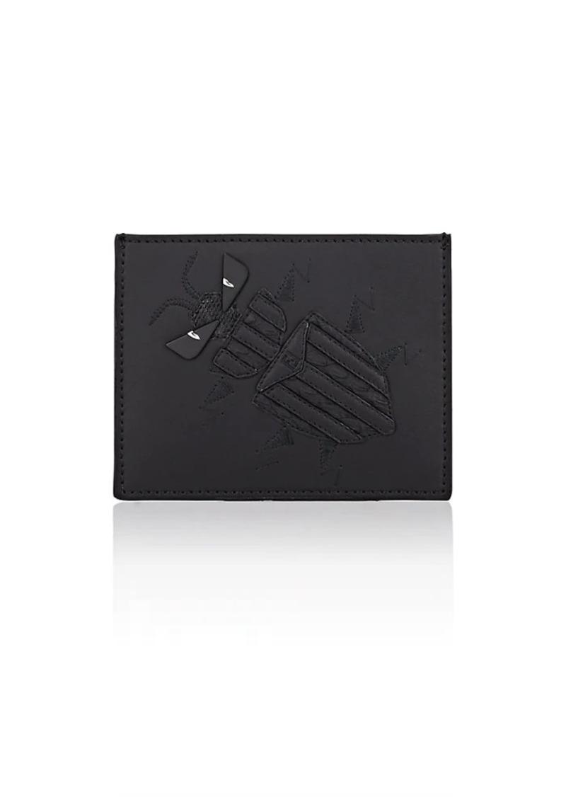 17309de692 Men's Super Bugs Leather Card Case - Black