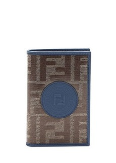Fendi Men's Vetrificato FF-Canvas Vertical Bifold Wallet