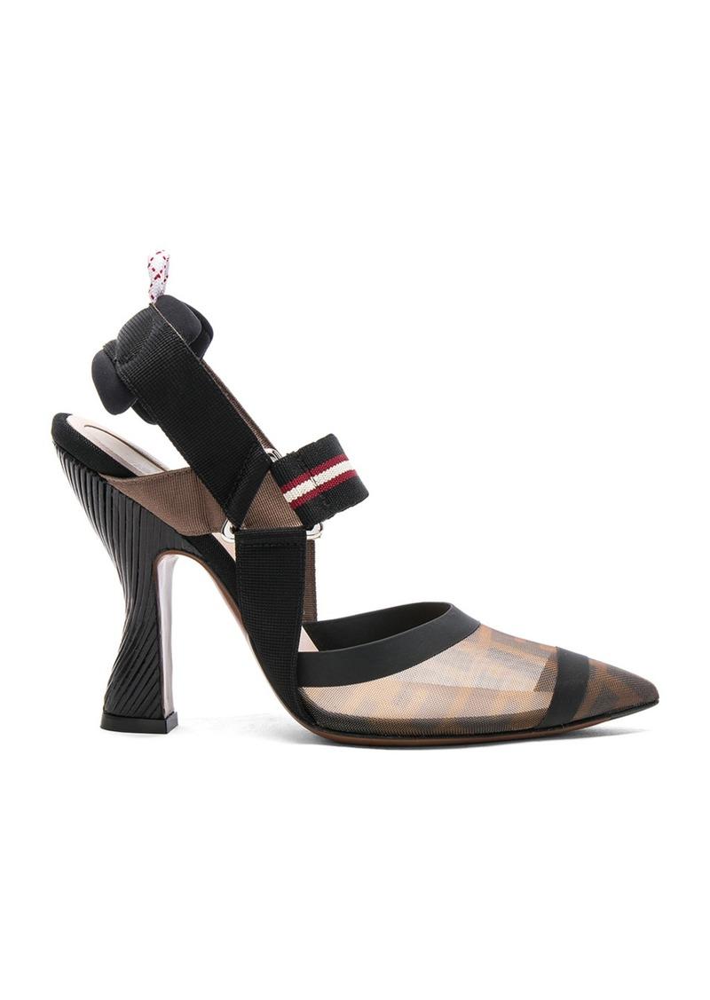 f906789285 Fendi Fendi Mesh Mary Jane Heels | Shoes