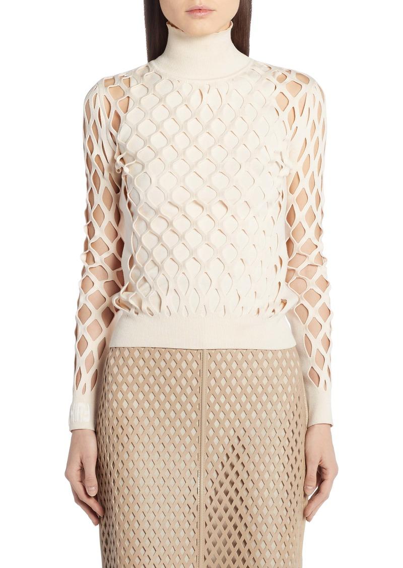 Fendi Mesh Turtleneck Sweater