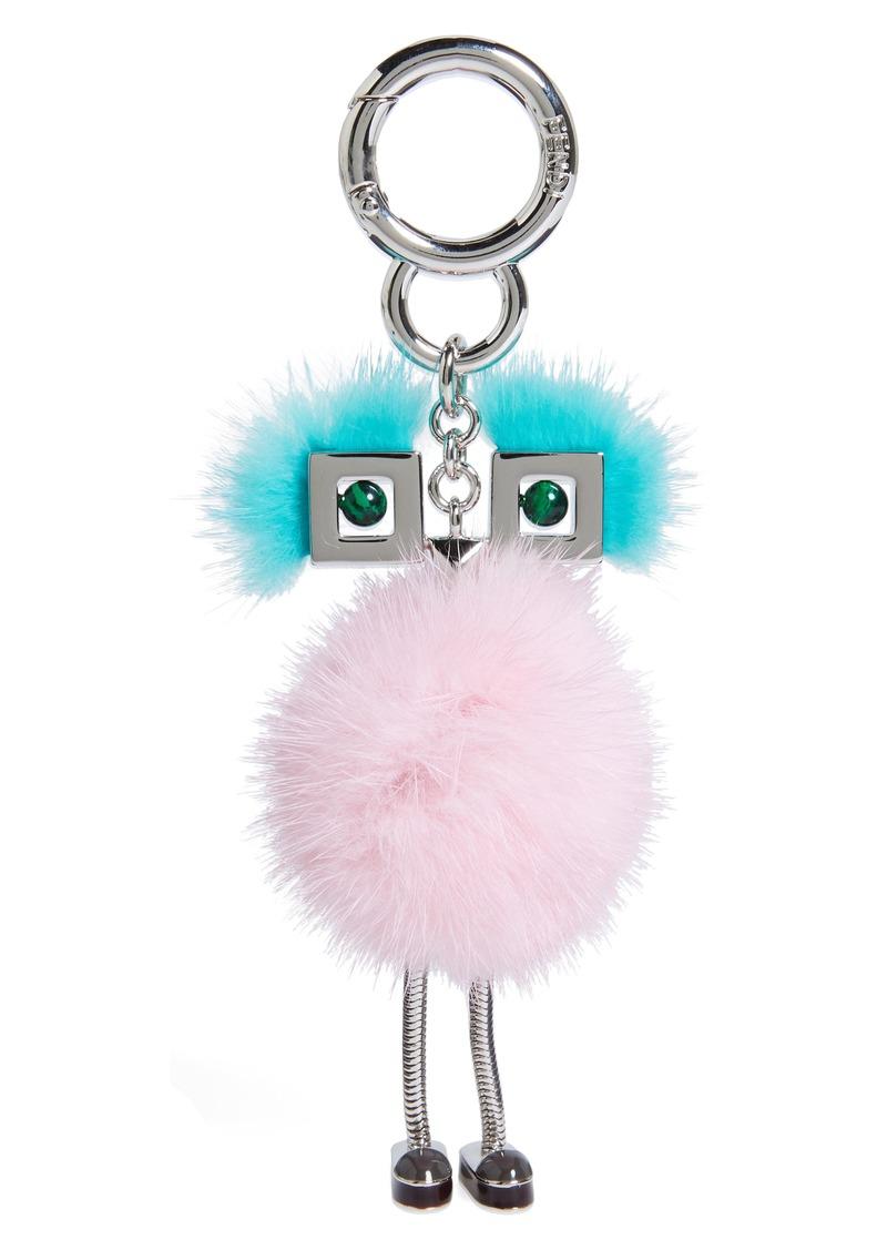 b521c3c2 Metal & Genuine Mink Fur Bag Charm