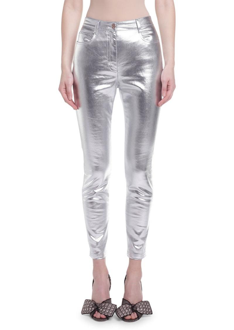 Fendi Metallic-Coated Skinny Jeans