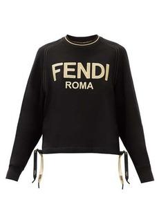 Fendi Metallic-logo cotton-jersey sweatshirt