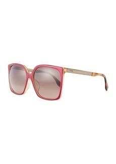 Fendi Metal/Plastic Aviator Sunglasses