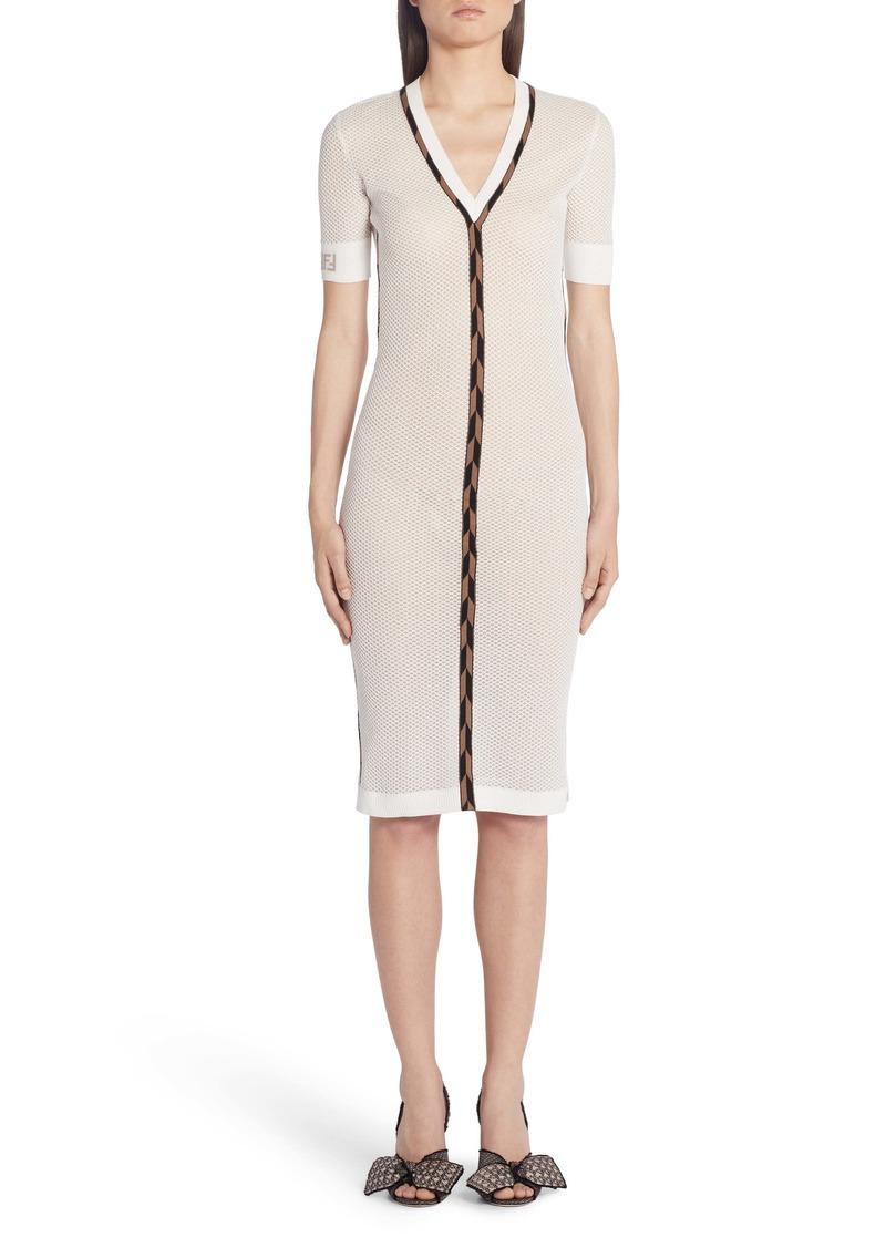 Fendi Micro Mesh Sweater Dress
