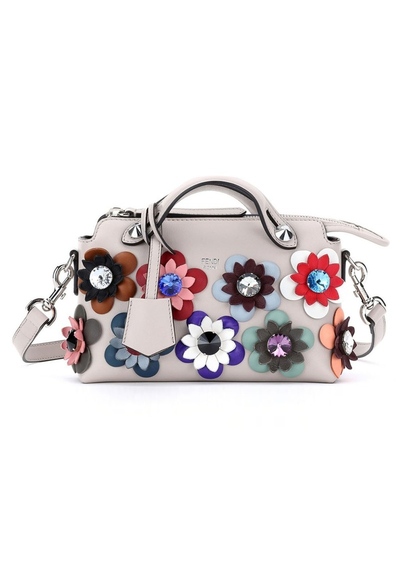 Fendi 'Mini By the Way with Flowers' Convertible Leather Crossbody Bag