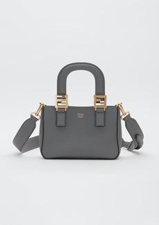 Fendi Mini FF Roma Leather Shopper Bag