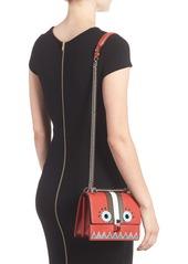 3d5c66e3b5dc Fendi Fendi Mini Kan I Faces Leather Shoulder Bag