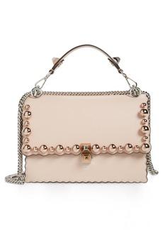 Fendi Mini Kan I Imitation Pearl Scallop Leather Shoulder Bag