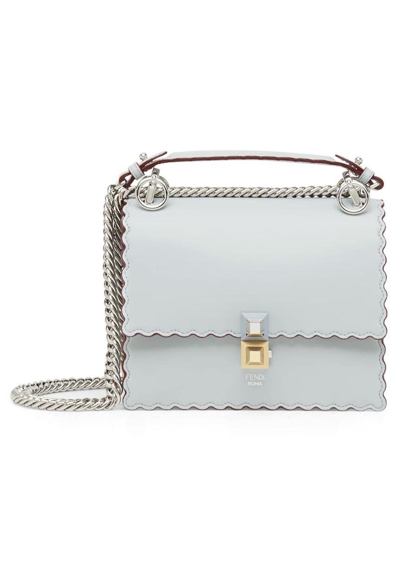 9ac215887c3d Fendi Fendi Mini Kan I Scalloped Leather Shoulder Bag
