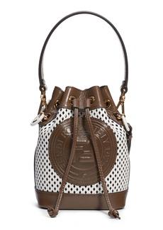 Fendi Mini Mon Tresor Perfoarted Leather Bucket Bag
