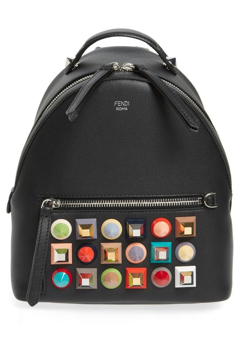 Fendi Mini Multi Studs Leather Backpack