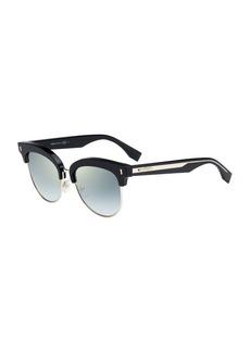 Fendi Mirrored Half-Rim Sunglasses
