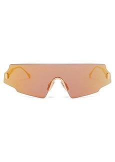 Fendi Fendi Forceful shield metal sunglasses