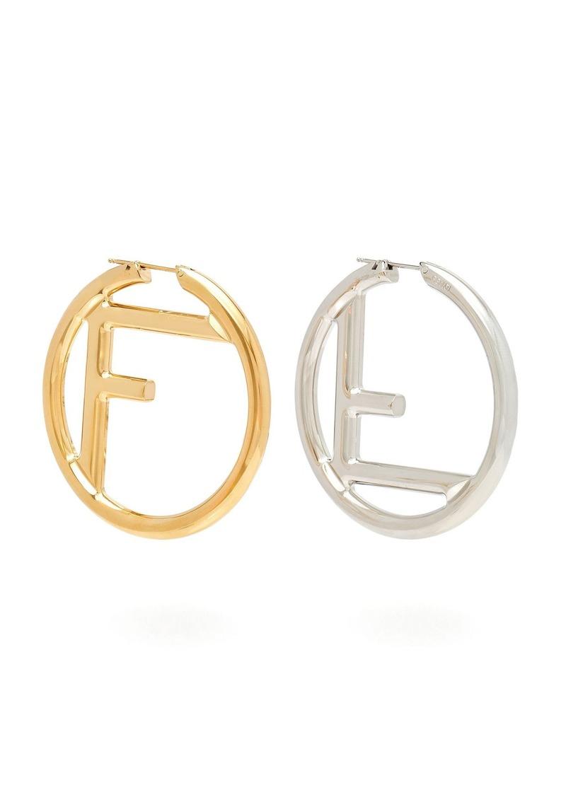 199f27264 Fendi Fendi Mismatches FF hoop earrings | Jewelry