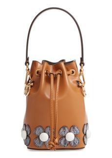 Fendi Mon Tresor Embellished Leather Bucket Bag
