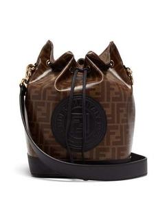 Fendi Mon Tresor FF coated-canvas and leather bucket bag