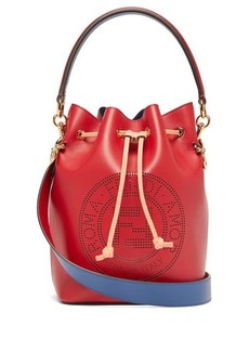 Fendi Mon Tresor FF leather bucket cross-body bag