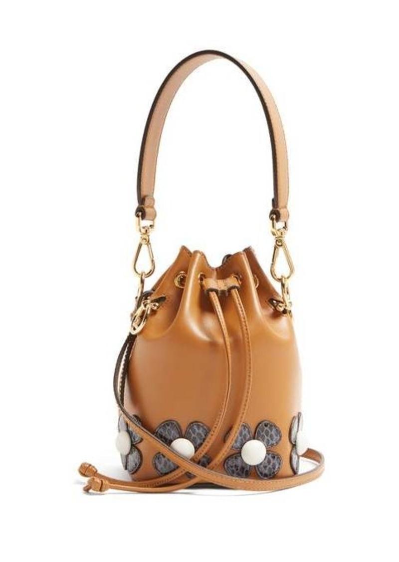 Fendi Mon Tresor flower-appliqué cross-body bag