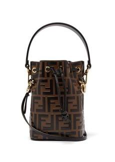 Fendi Mon Tresor mini FF embossed-leather bucket bag