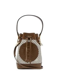 Fendi Mon Tresor mini perforated-leather bucket bag