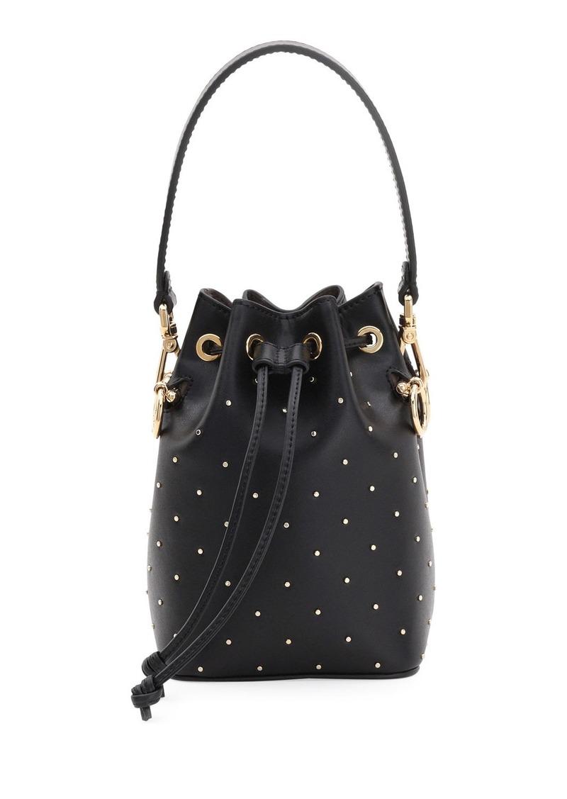 Fendi Mon Tresor Studded Leather Bucket Bag