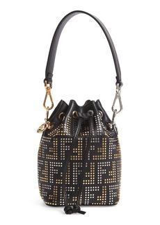 Fendi Mon Tresor Studded Logo Leather Bucket Bag