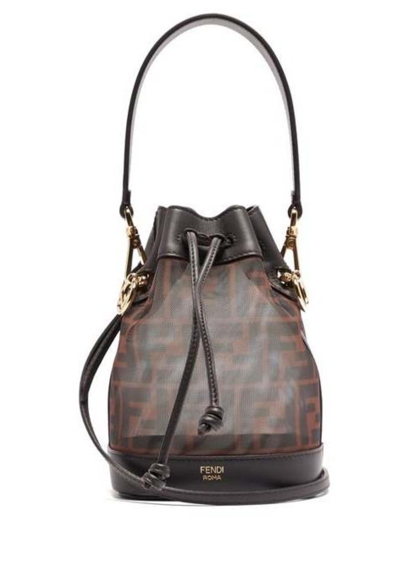 Fendi Mon Trésor mini mesh & leather cross-body bag