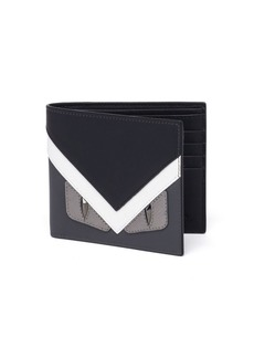 Fendi Monster Calf Leather Bi-Fold Wallet