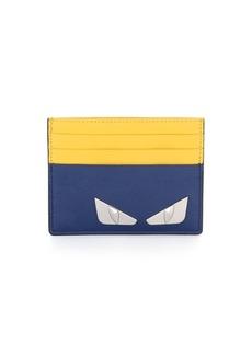 Fendi Monster Eyes Leather Card Case
